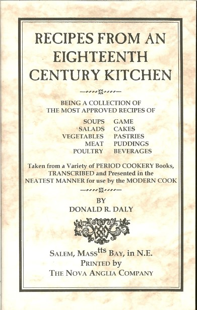 Image for RECIPES FROM AN EIGHTEENTH CENTURY KITCHEN