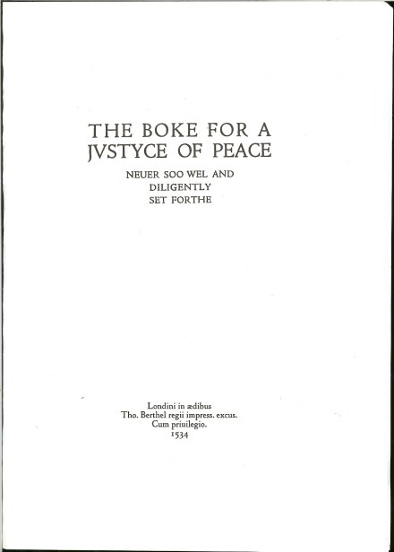 Image for THE BOKE FOR A JUSTYCE OF PEACE (THE BOOK FOR A JUSTICE OF THE PEACE)