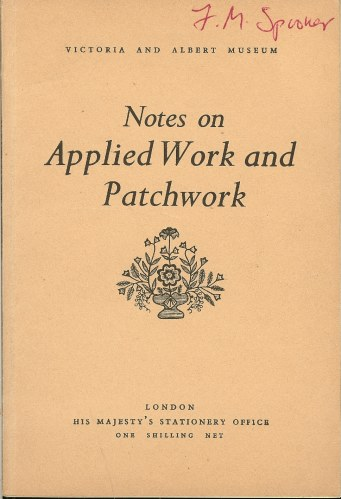 Image for NOTES ON APPLIED WORK AND PATCHWORK