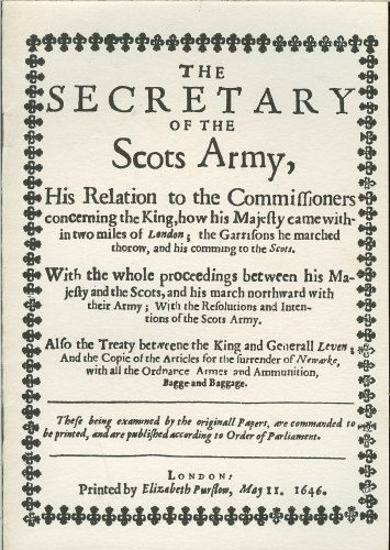 Image for THE SECRETARY OF THE SCOTS ARMY...1646