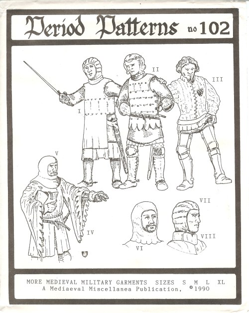 Image for PERIOD PATTERNS 102: MORE MEDIEVAL MILITARY GARMENTS
