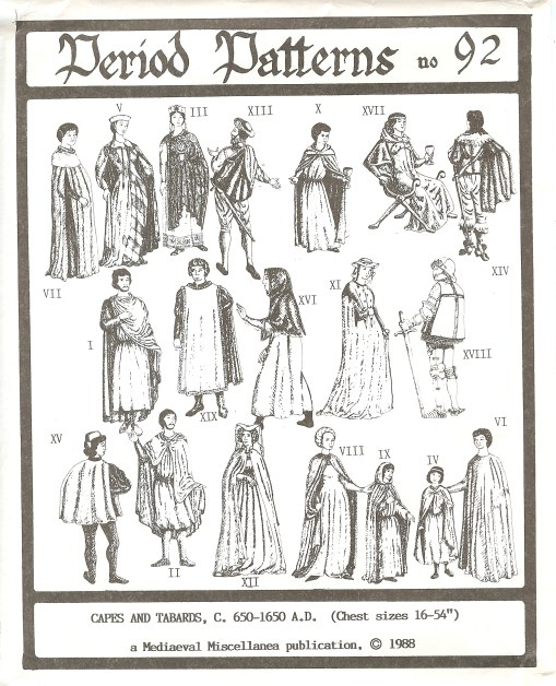 Image for PERIOD PATTERNS 92: CAPES AND TABARDS C.650-1650