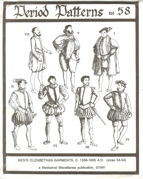 Image for PERIOD PATTERNS 58: MEN'S ELIZABETHAN GARMENTS C.1558-1605
