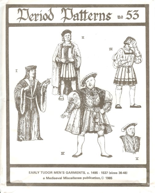Image for PERIOD PATTERNS 53: EARLY TUDOR MEN'S GARMENTS C.1495 - 1537