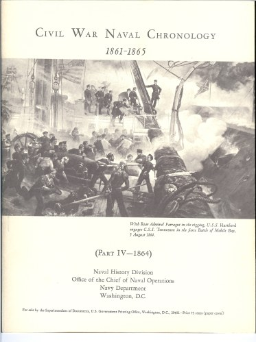 Image for CIVIL WAR NAVAL CHRONOLOGY 1861-1865 (PART IV- 1864)