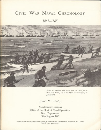 Image for CIVIL WAR NAVAL CHRONOLOGY 1861-1865 (PART V- 1865)