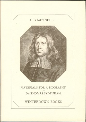 Image for MATERIALS FOR A BIOGRAPHY OF DR. THOMAS SYDENHAM (1624-1689)