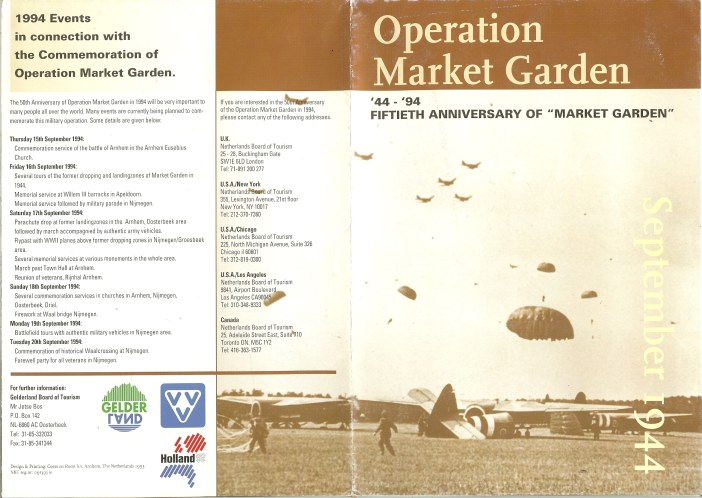 Image for OPERATION MARKET GARDEN: '44-'94 FIFTIETH ANNIVERSARY OF 'MARKET GARDEN' SEPTEMBER 1944