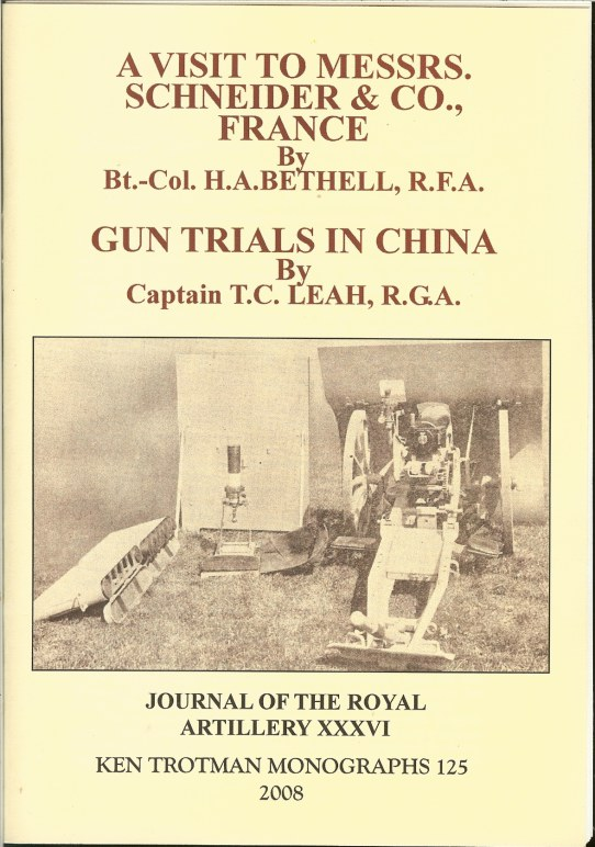 Image for A VISIT TO MESSERS SCNEIDER & CO., FRANCE. & GUN TRIALS IN CHINA