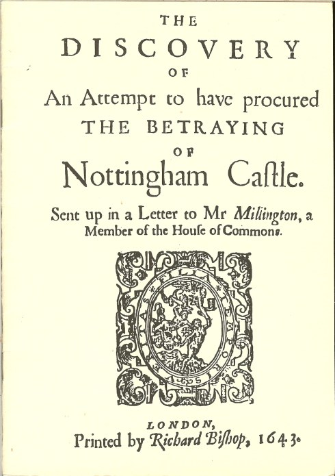 Image for THE DISCOVERY OF AN ATTEMPT TO HAVE PROCURED THE BETRAYING OF NOTTINGHAM CASTLE 1643