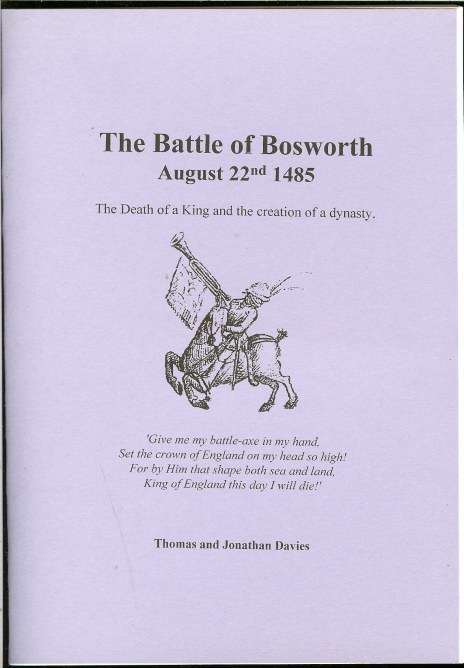 Image for THE BATTLE OF BOSWORTH 1485