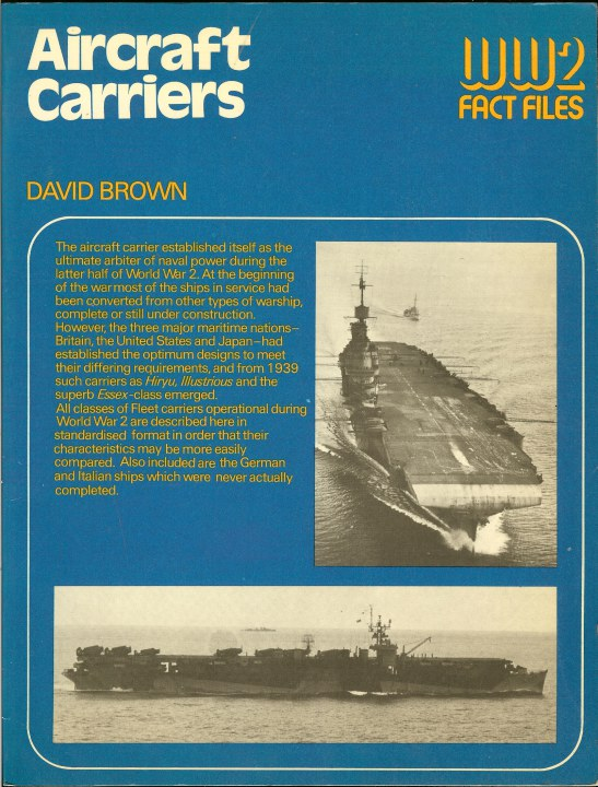 Image for WW2 FACT FILES: AIRCRAFT CARRIERS
