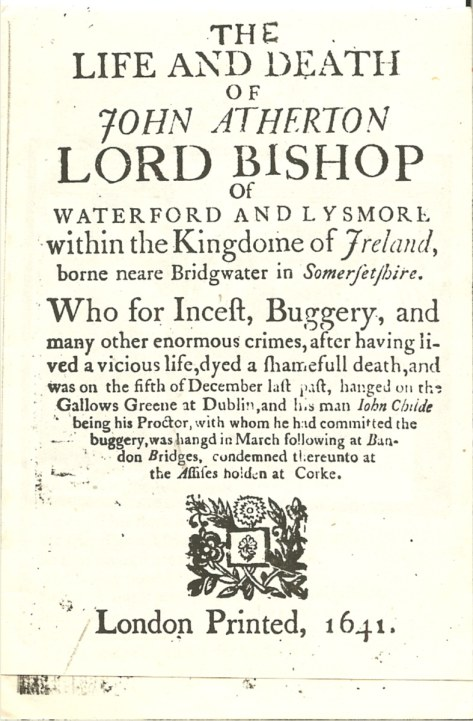 Image for THE LIFE AND DEATH OF JOHN ATHERTON LORD BISHOP OF WATERFORD AND LYSMORE WITHIN THE KINGDOME OF IRELAND (1641)