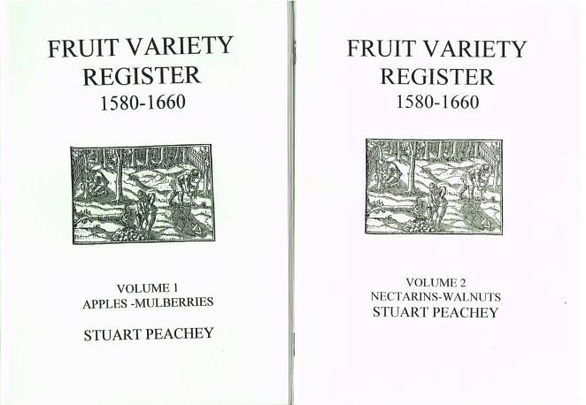 Image for FRUIT VARIETY REGISTER 1580-1660 (TWO VOLUME SET)