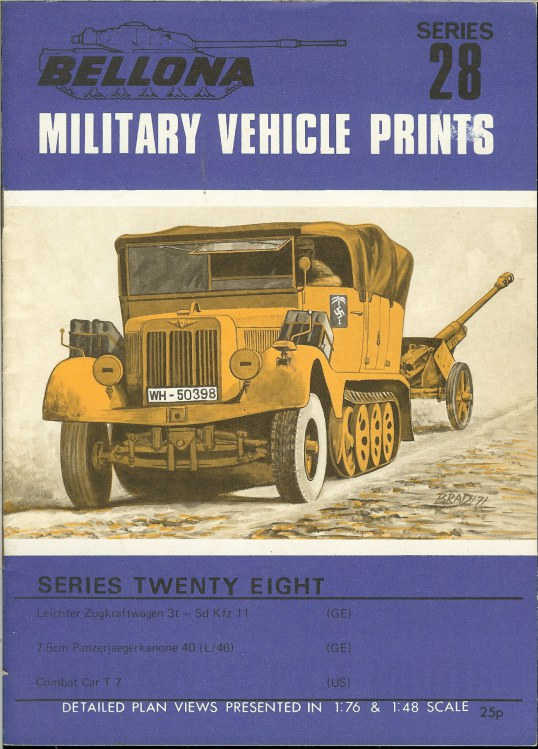 Image for BELLONA MILITARY VEHICLE PRINTS: SERIES TWENTY EIGHT