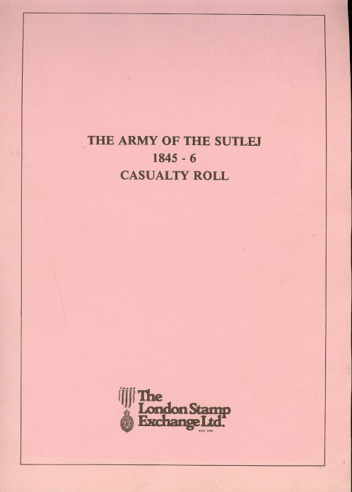 Image for THE ARMY OF THE SUTLEJ 1845-6 CASUALTY ROLL