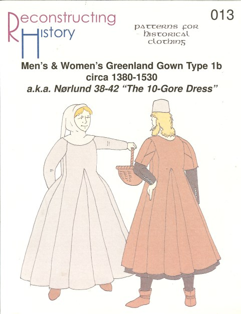 Image for RH013: MEN'S & WOMEN'S GREENLAND GOWN TYPE 1B: CIRCA 1380-1530 (NORLUND NO.38-42 'THE 10-GORE DRESS')