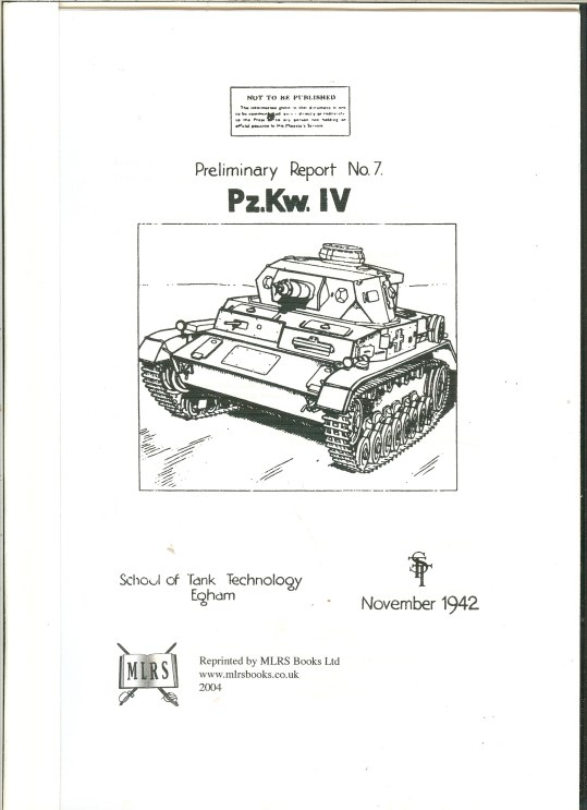 Image for PZKW IV : PRELIMINARY REPORT NO.7