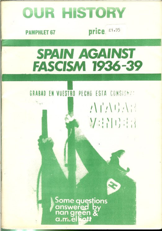 Image for OUR HISTORY PAMPHLET 67: SPAIN AGAINST FASCISM 1936-39: SOME QUESTIONS ANSWERED