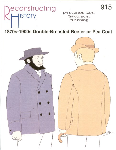 Image for RH915: 1870S-1900S DOUBLE-BREASTED REEFER OR PEA COAT
