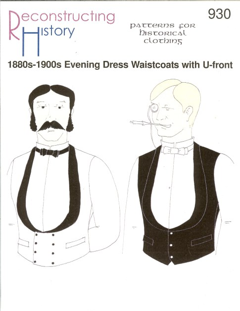 Image for RH930: 1880S-1900S EVENING DRESS WAISTCOATS WITH U-FRONT