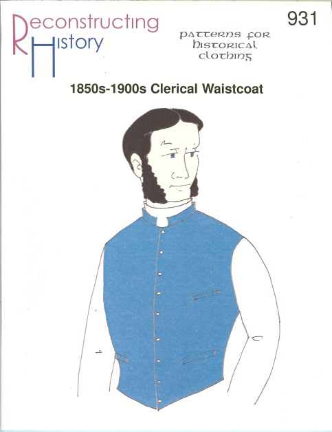 Image for RH931: 1850S-1900S CLERICAL WAISTCOAT