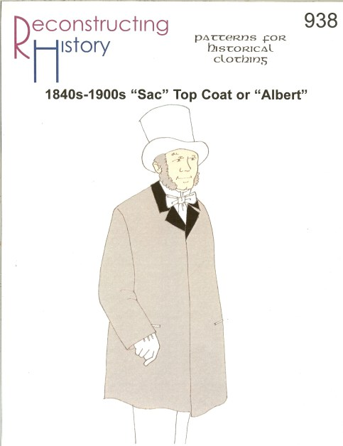 Image for RH938: 1840S-1900S 'SAC' TOP COAT, OR 'ALBERT'