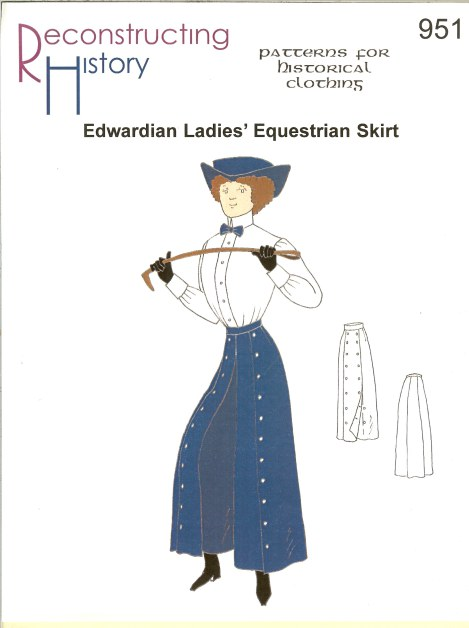 Image for RH951: EDWARDIAN LADIES' EQUESTRIAN SKIRT