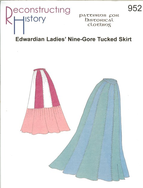Image for RH952: EDWARDIAN LADIES' NINE-GORE TUCKED SKIRT