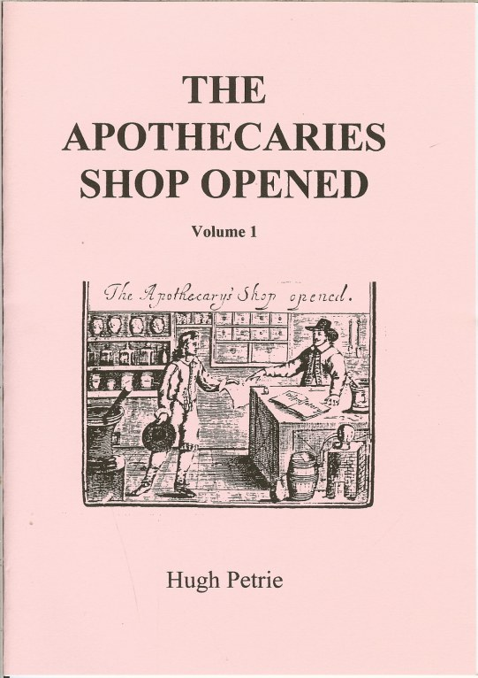Image for THE APOTHECARIES SHOP OPENED VOLUME 1