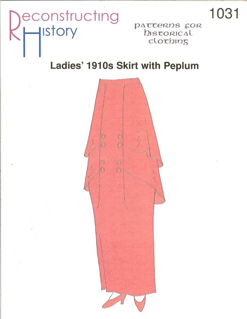 Image for RH1031: LADIES' 1910S SKIRT WITH PEPLUM