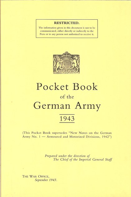 Image for POCKET BOOK OF THE GERMAN ARMY 1943