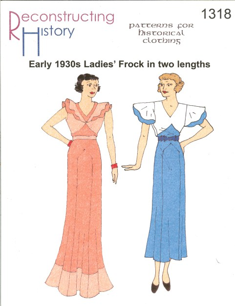 Image for RH1318: EARLY LADIES' FROCK IN TWO LENGTHS