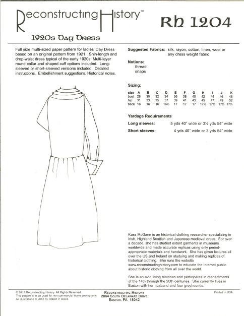 Image for RH1204: 1920S DAY DRESS