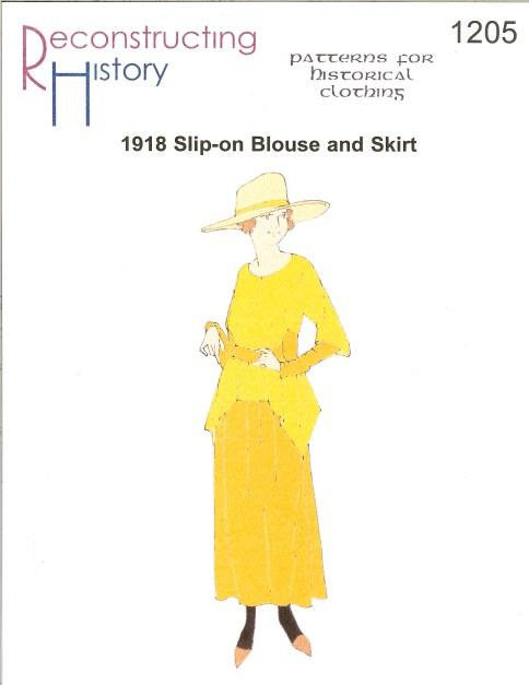 1918 Slip-on Blouse with Skirt Schnittmuster RH 1205 Paper Pattern