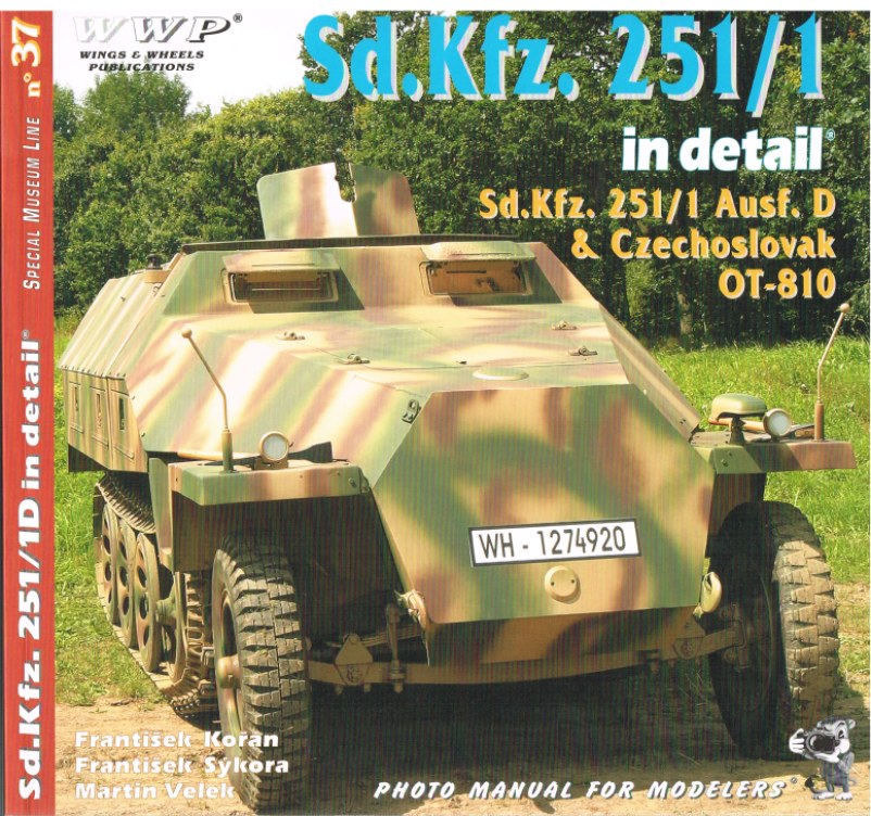 Image for SPECIAL MUSEUM LINE NO.37: SD.KFZ.251/1D IN DETAIL