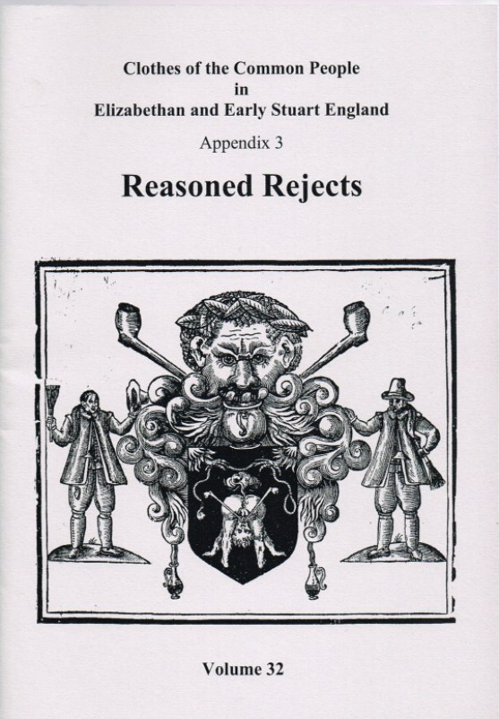 Image for CLOTHES OF THE COMMON PEOPLE VOLUME 32: APPENDIX 3 - REASONED REJECTS