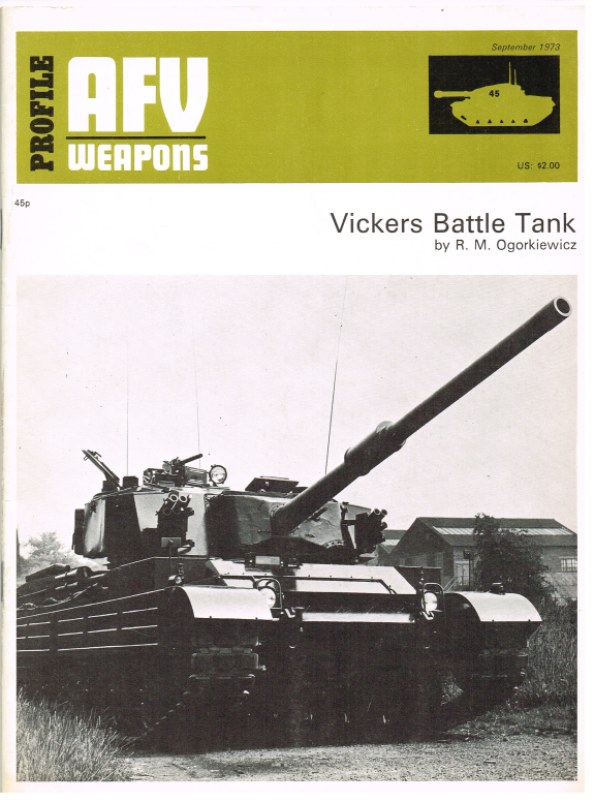 Image for PROFILE AFV 45: VICKERS BATTLE TANK