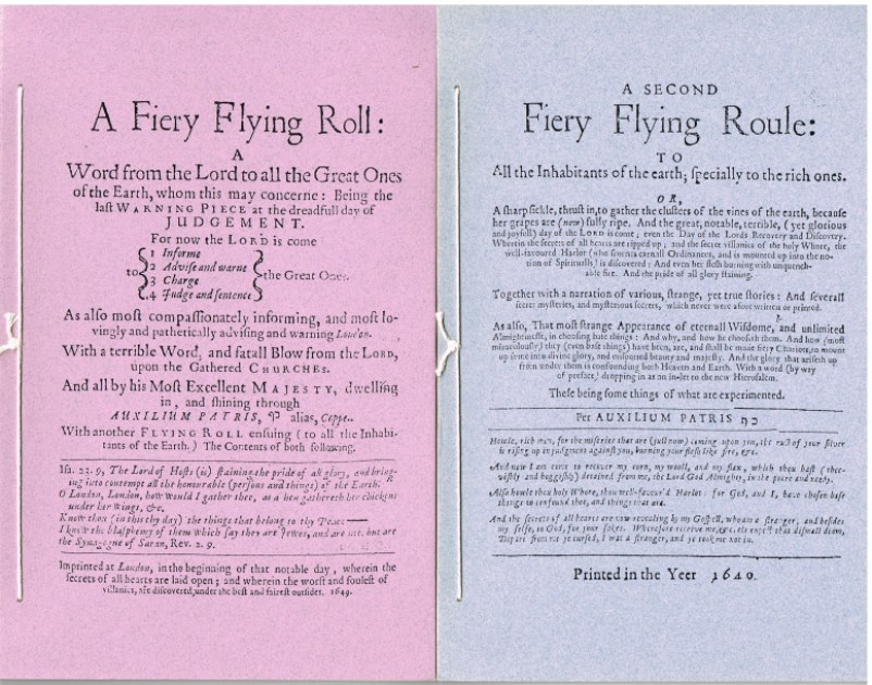 Image for A FIERY FLYING ROLL + A SECOND FIERY FLYING ROULE (1649)