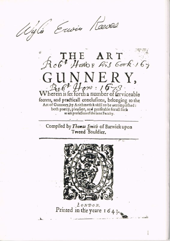 Image for THE ART OF GUNNERY (1643)