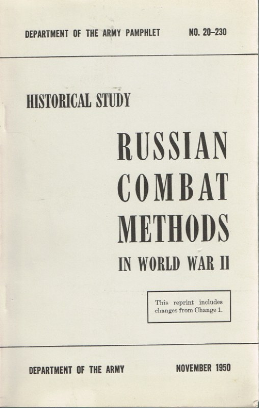 Image for RUSSIAN COMBAT METHODS IN WORLD WAR II