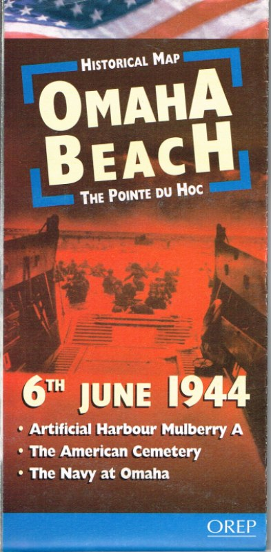 Image for HISTORICAL MAP OMAHA BEACH 6TH JUNE 1944 - THE POINTE DU HOC