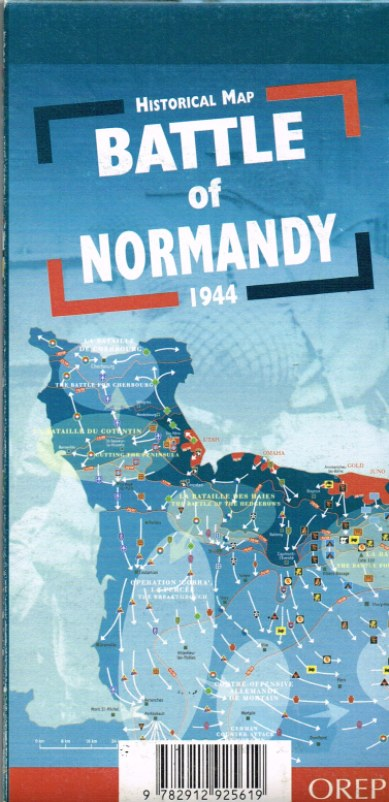 Image for HISTORICAL MAP THE BATTLE OF NORMANDY 1944
