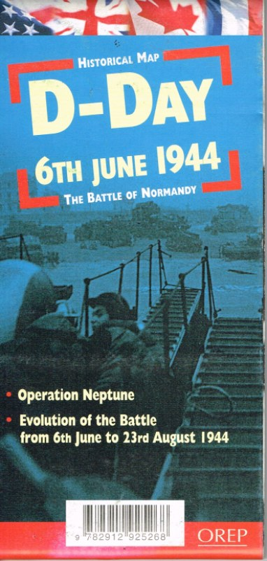Image for HISTORICAL MAP D-DAY 6TH JUNE 1944 - THE BATTLE OF NORMANDY