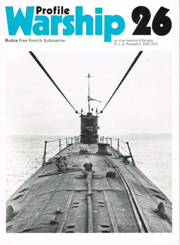 Image for PROFILE WARSHIP 26: RUBIS FREE FRENCH SUBMARINE