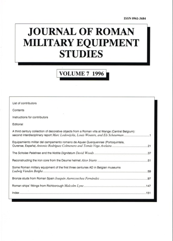 Image for JOURNAL OF ROMAN MILITARY EQUIPMENT STUDIES: VOLUME 7 1996