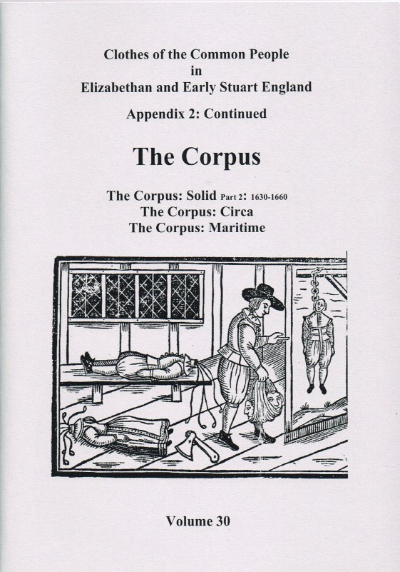 Image for CLOTHES OF THE COMMON PEOPLE VOLUME 30: APPENDIX 2 CONTINUED THE CORPUS