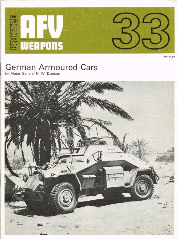Image for PROFILE AFV 33: GERMAN ARMOURED CARS