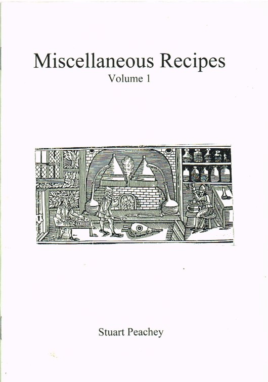 Image for MISCELLANEOUS RECIPES VOLUME 1 (SEVENTEENTH CENTURY)