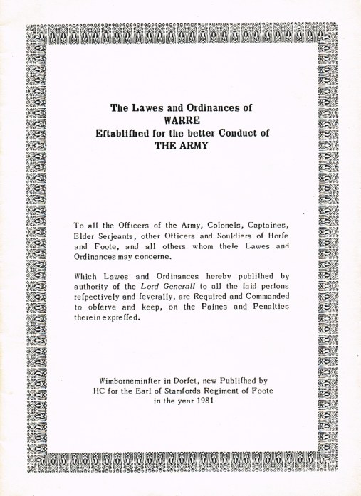 Image for THE LAWES AND ORDINANCES OF WARRE, ESTABLISHED FOR THE BETTER CONDUCT OF THE ARMY